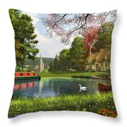 The Valley Cottage Variant 1 Throw Pillow