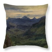 The Valley Of Saint-vincent Throw Pillow