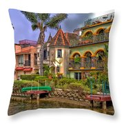 The Venice Canal Historic District Throw Pillow