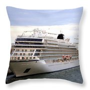 The Viking Star Cruise Liner In Venice Italy Throw Pillow