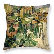 The Village Of Gardanne  Throw Pillow