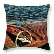The Vintage 1958 Chris Craft Throw Pillow