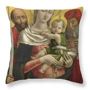 The Virgin And Child With Saints Paul And Jerome Throw Pillow