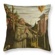 The Vision Of The Blessed Gabriele Throw Pillow