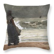 The Watcher, Tynemouth Throw Pillow