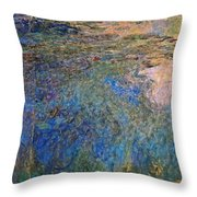 The Water Lily Pond 1914 1917 Throw Pillow