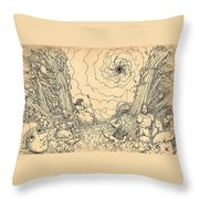The Wave Of Time And Space Throw Pillow