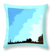 The Wintering Way Throw Pillow
