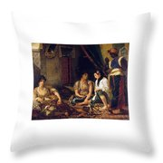 The Women Of Algiers In Their Apartment Throw Pillow