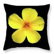 The Yellow Flower Throw Pillow