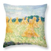The Young Ladies Of Giverny, Sun Effect Throw Pillow