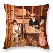 The Young Mechanic Throw Pillow