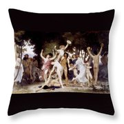 The Youth Of Bacchus Throw Pillow