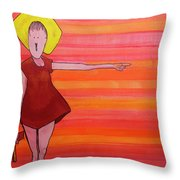 They Were Warned Throw Pillow