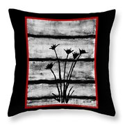 Thistles By The Barn Throw Pillow