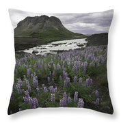 Thofafoss Waterfall Iceland 1571 Throw Pillow