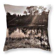 Thornton Reservoir, Leicestershire Throw Pillow