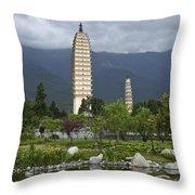 Three Pagodas Of Dali Throw Pillow