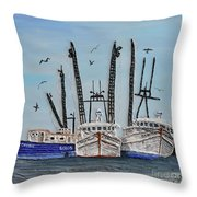 Three Working Gals Throw Pillow