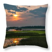 Thriving Beauty Of The Lowcountry Throw Pillow