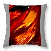 Through A Glass Darkly 1 Abstract Throw Pillow