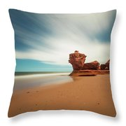 Thunder Cove Sea Arch And Flowerpot Rock Throw Pillow