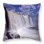 Thundering Water Throw Pillow