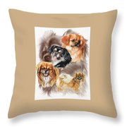 Tibetan Spaniel W/ghost Throw Pillow