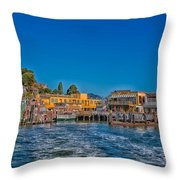Tiburon Waterfront Throw Pillow