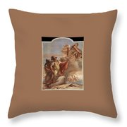Tiepolo Villa Valmarana Venus Appearing To Aeneas On The Shores Of Carthage Giovanni Battista Tiepolo Throw Pillow
