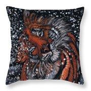 Tiger Bathing Throw Pillow