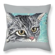 Tiger Cat Throw Pillow