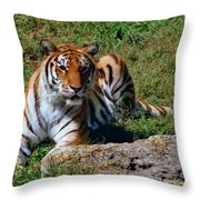 Tiger II Throw Pillow