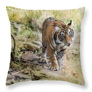 Tiger In The Woods Throw Pillow