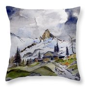 Tigers Tooth Peak Throw Pillow