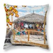 Tiki Bay Island  Throw Pillow