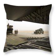 Tikrit, Iraq - A Ch-47 Chinook Throw Pillow