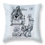 Time Between Women Throw Pillow