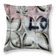 Tiny Pink Butterfly Graffiti Throw Pillow