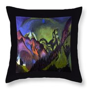Tinzenhorn Zugen Gorge Near Monstein Throw Pillow