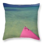Tip Of Pink Kayak Throw Pillow