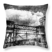 Tobaco Dock London Vintage Throw Pillow