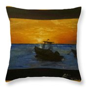 Tobago Sunset Throw Pillow