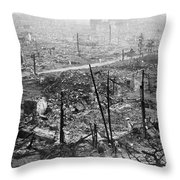 Tokyo Earthquake, 1923 Throw Pillow