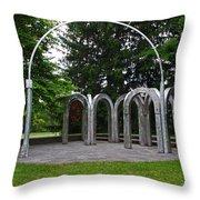 Toledo Botanical Garden Arches Throw Pillow