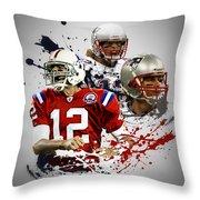 Tom Brady Patriots Throw Pillow