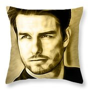 Tom Cruise Collection Throw Pillow