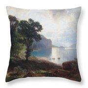Tomorrow At Wallenstadtersee  Throw Pillow