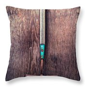 Tools On Wood 50 Throw Pillow