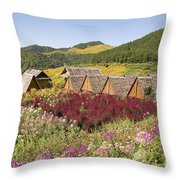 Toong Bua Tong Forest Park Throw Pillow
